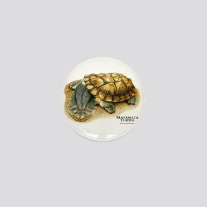 Matamata Turtle Mini Button