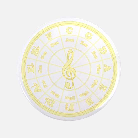 "Yellow Circle of Fifths 3.5"" Button"