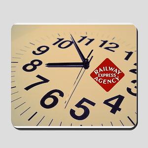 Railway Express Clock Mousepad