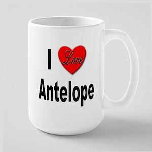 I Love Antelope Large Mug