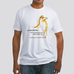 Llamatude Gold Fitted T-Shirt