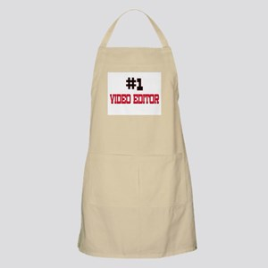 Number 1 VIDEO EDITOR BBQ Apron
