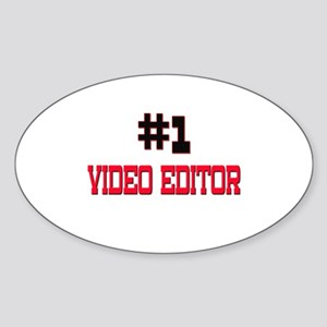 Number 1 VIDEO EDITOR Oval Sticker
