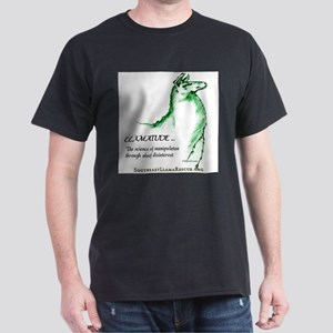Llamatude Green Black T-Shirt