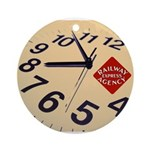 Railway Express Clock Ornament (Round)