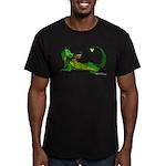 Flamin' Green Dragon Men's Fitted T-Shirt (dark)