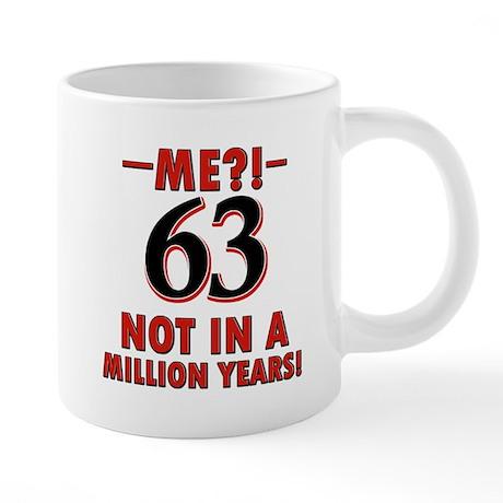 63rd birthday design 20 oz Ceramic Mega Mug