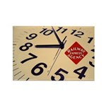 Railway Express Clock Rectangle Magnet