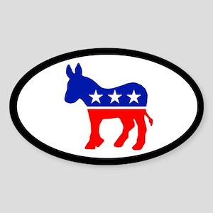 DONKEY OVAL Oval Sticker