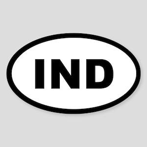 IND OVAL Oval Sticker