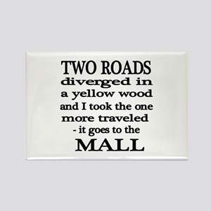 Road to the Mall Rectangle Magnet
