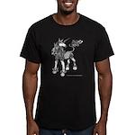 Dappled Unicorn Men's Fitted T-Shirt (dark)