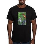 Suprise! Unicorn Men's Fitted T-Shirt (dark)