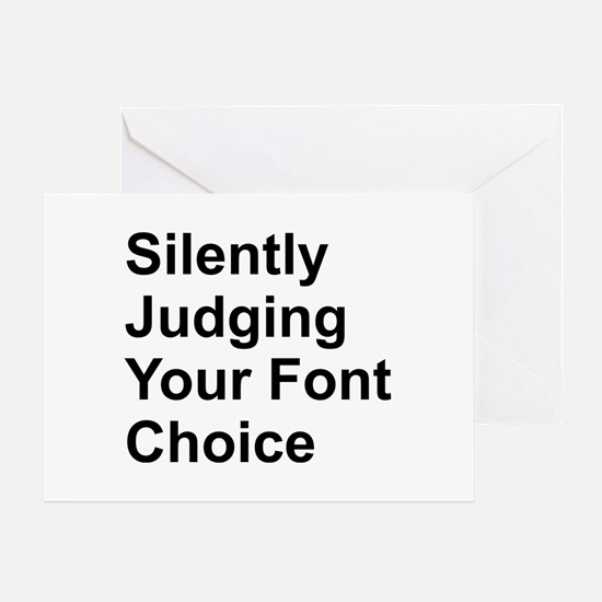 Silently Font Greeting Card