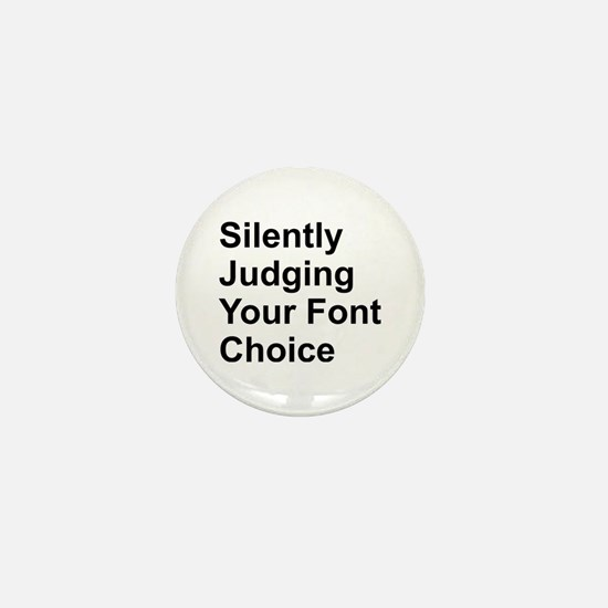 Silently Font Mini Button