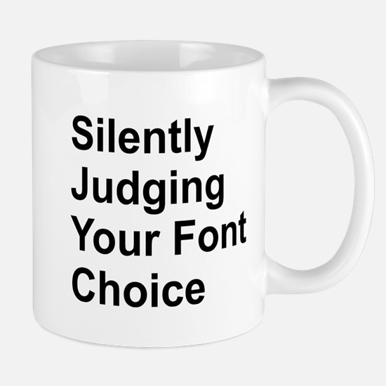 Silently Font Small Mug