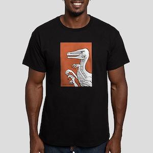 Orange Velociraptor Men's Fitted T-Shirt (dark)