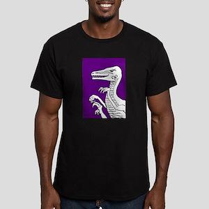 Bold Purple Velociraptor! Men's Fitted T-Shirt (da
