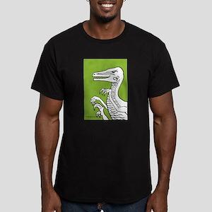 Bold Bright Green Velocirapto Men's Fitted T-Shirt