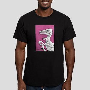 Bold Rose Violet Velociraptor Men's Fitted T-Shirt