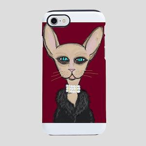 Hairless Cat in Fur Coat iPhone 7 Tough Case
