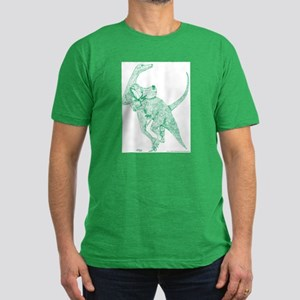 Doomed Conflict Green Men's Fitted T-Shirt (dark)