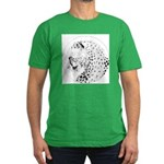 Cheetah Great Cat Men's Fitted T-Shirt (dark)