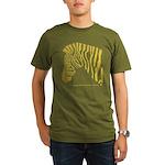 Grant's Zebra Portrait Organic Men's T-Shirt (dark