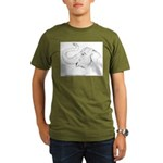 Tricia the Indian Elephant Organic Men's T-Shirt (