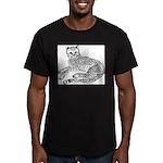 Cheetah Cub Men's Fitted T-Shirt (dark)