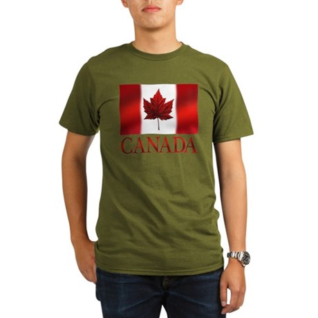 Canada Flag Organic Men's T-Shirt (dark)