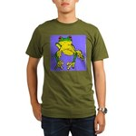 Red Eyed Tree Frog Organic Men's T-Shirt (dark)