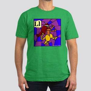 L is for Lympago Men's Fitted T-Shirt (dark)