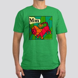 M is for Manticore Men's Fitted T-Shirt (dark)