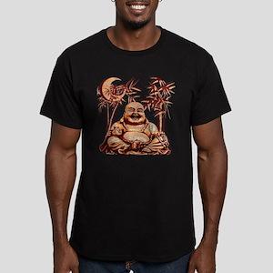 Riyah-Li Designs Happy Buddha Men's Fitted T-Shirt