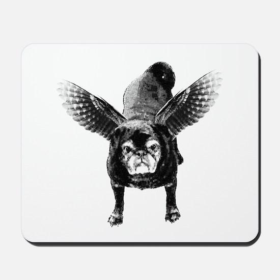 Pug Angel Mousepad
