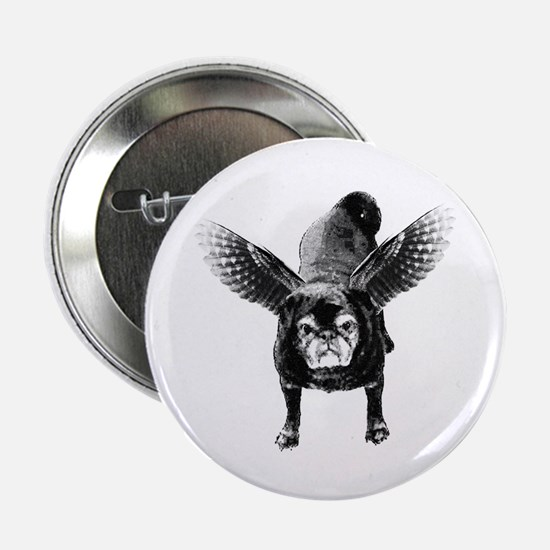 Pug Angel Button