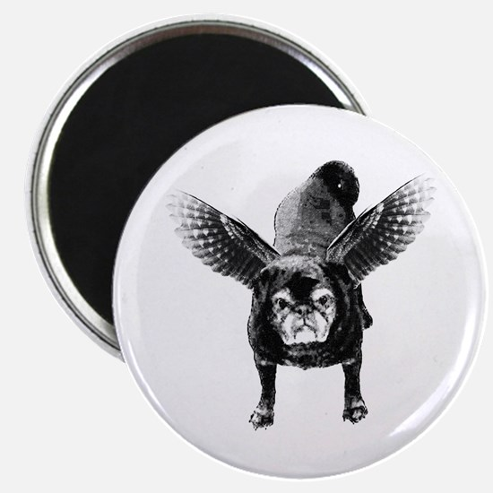 Pug Angel Magnet