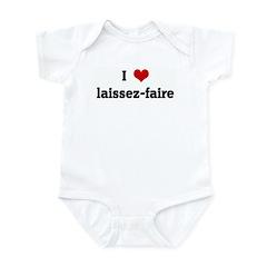 I Love laissez-faire Infant Bodysuit