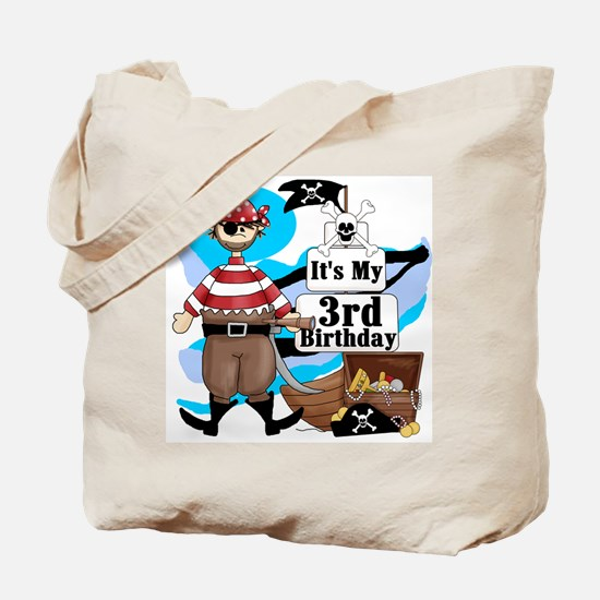 Pirate's Life 3rd Birthday Tote Bag