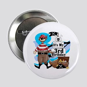 """Pirate's Life 3rd Birthday 2.25"""" Button"""