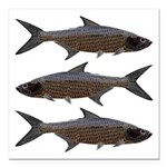 Abstract Line Tarpon Square Car Magnet 3