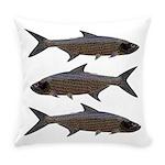 Abstract Line Tarpon Everyday Pillow