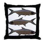 Abstract Line Tarpon Throw Pillow