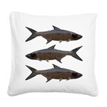 Abstract Line Tarpon Square Canvas Pillow