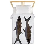 Abstract Line Tarpon Twin Duvet Cover