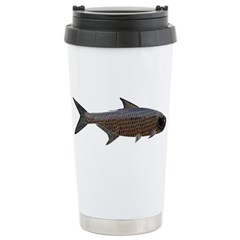 Abstract Line Tarpon Travel Mug
