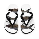 Abstract Line Tarpon Flip Flops