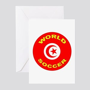 Tunisia World Cup Soccer Greeting Cards (10 Pk)