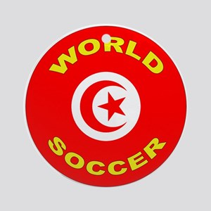 Tunisia World Cup 2006 Soccer Ornament (Round)